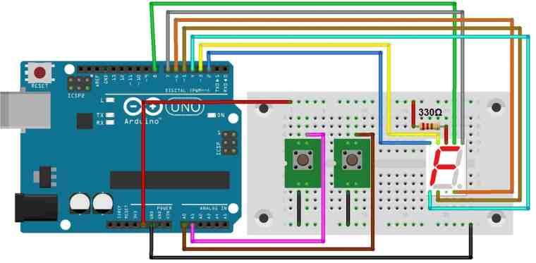 Digital Dice using Arduino & 7 Segment Display