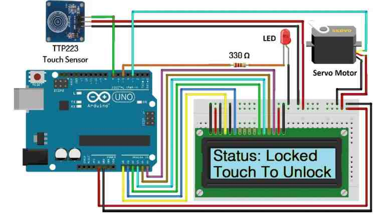Touch Based Door Lock System Using Arduino