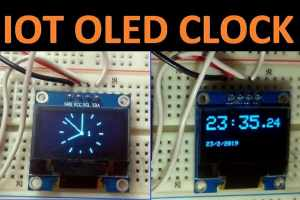 IOT Based Analog Digital OLED Clock using NodeMCU