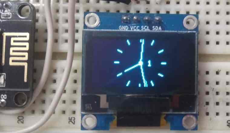 analog clock nodemcu