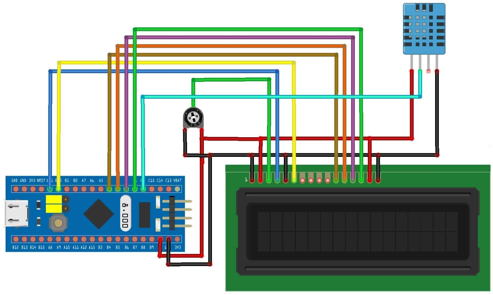 Humidity & Temperature Monitoring with DHT11 & STM32 Microcontroller
