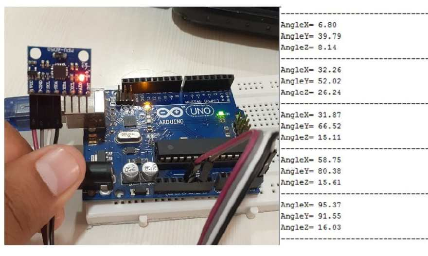 Measure Tilt Angle Using MPU6050 Gyro/Accelerometer & Arduino