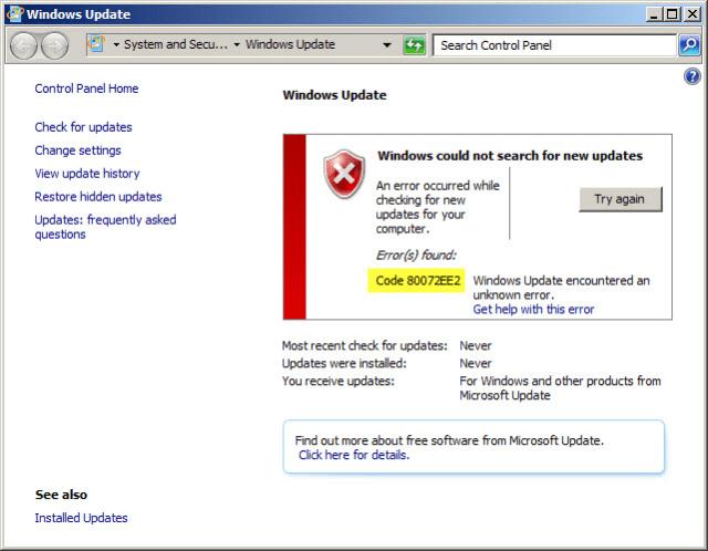 Code-80072EE2-windows-7-update-error