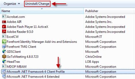 Microsoft client profile