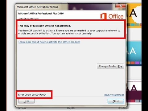 How Can I Fix MS Office 2016/2013/2010 Activation Error 0x4004f00d?