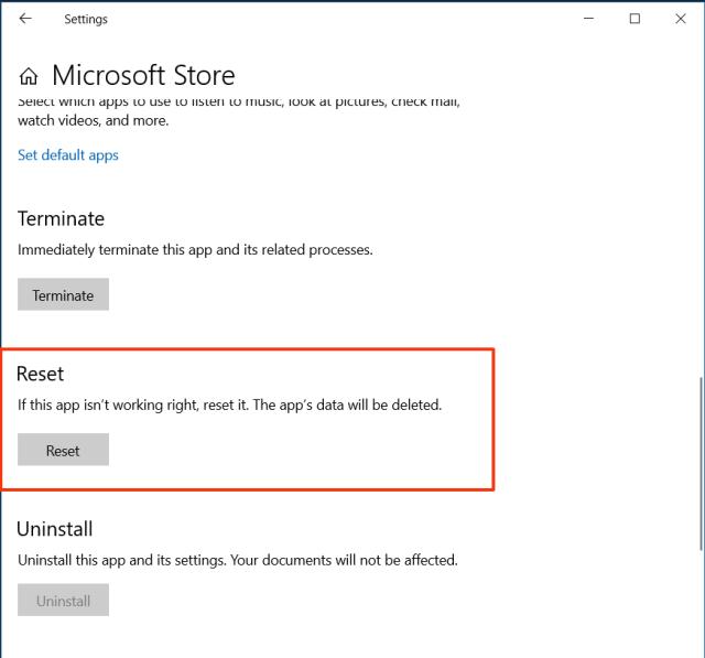 Reset Windows Store