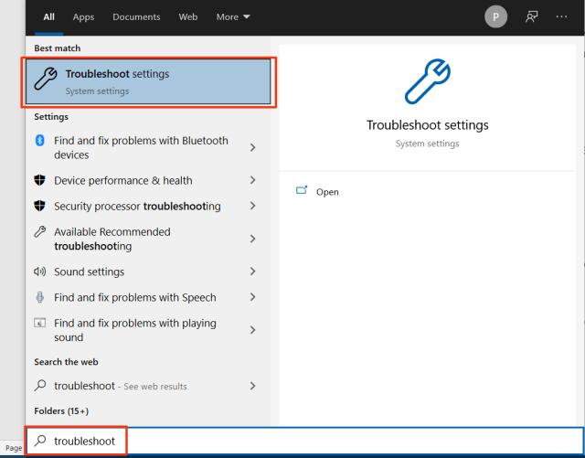 Open Windows Store Troubleshooter