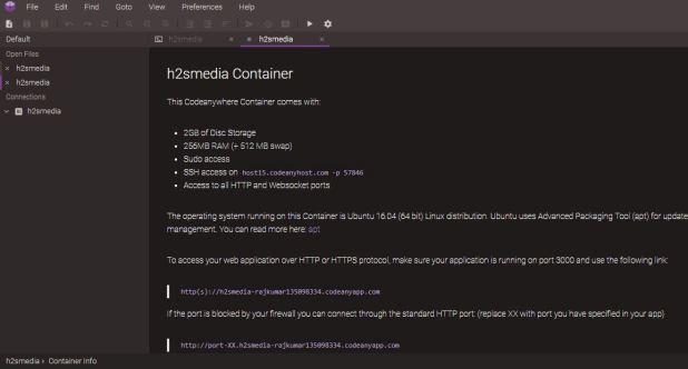 Free online Ubuntu virtual machine container