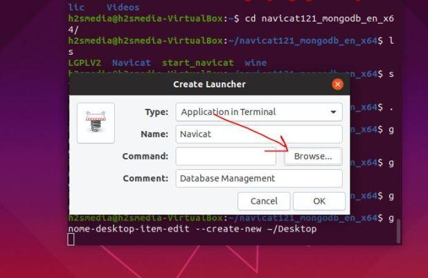 Browse Navicat script