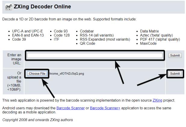 ZXing Decoder QR Code on PC online