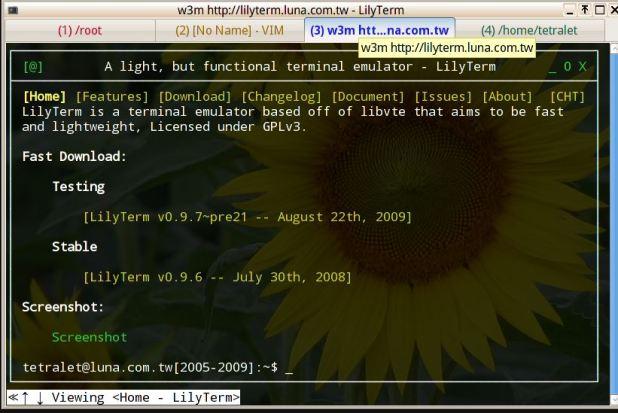 Lilyterm best linux emulators for old linux