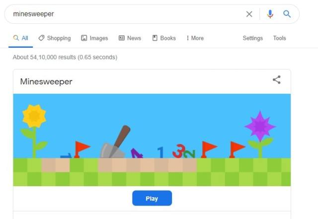 Minesweeper google easter eggs games