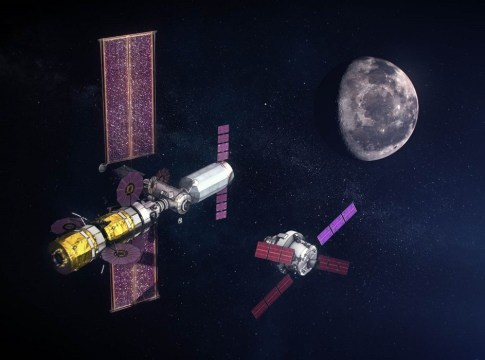 ISS Into Orbit Around The Moon
