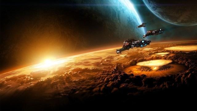 Artistic Alien Spaceship
