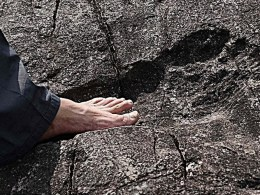 290 Million Year Old Human Footprint