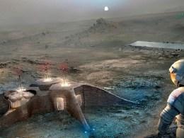 Secret human bases on mars