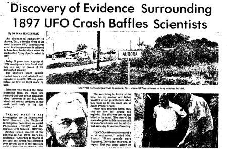 Aurora Ufo Incident 1897
