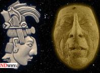 Elevated Nasal Root Of Ancient Maya King