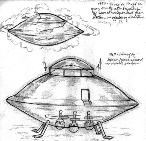 UFO sketch by Betty Andreasson