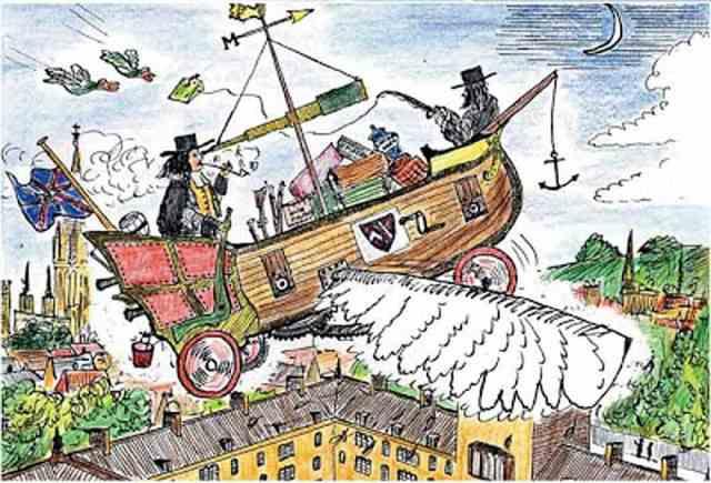 John Wilkins' flying chariot