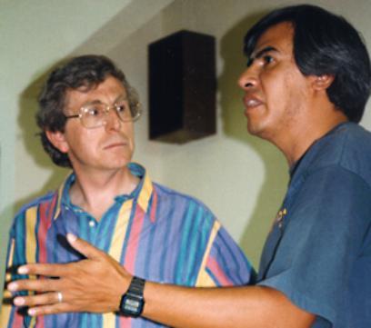 Carlos Diaz with Colin Andrews