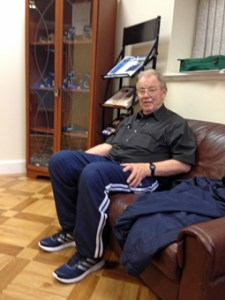 Gordon relaxing in the Seafarers Centre