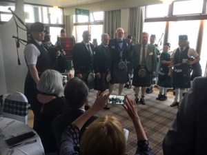 The Newtonhill Pipe Band and Members of the NI