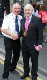 Howard with the Lord Provost!