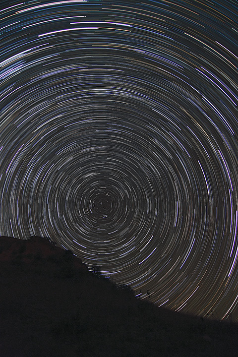Star trails at Point of Rocks, by Howard's Astronomical Adventures