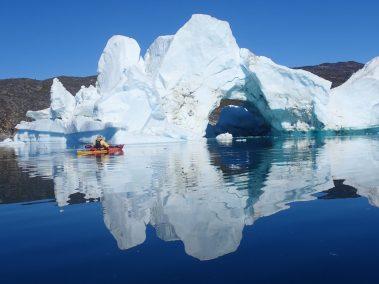 An iceberg archway