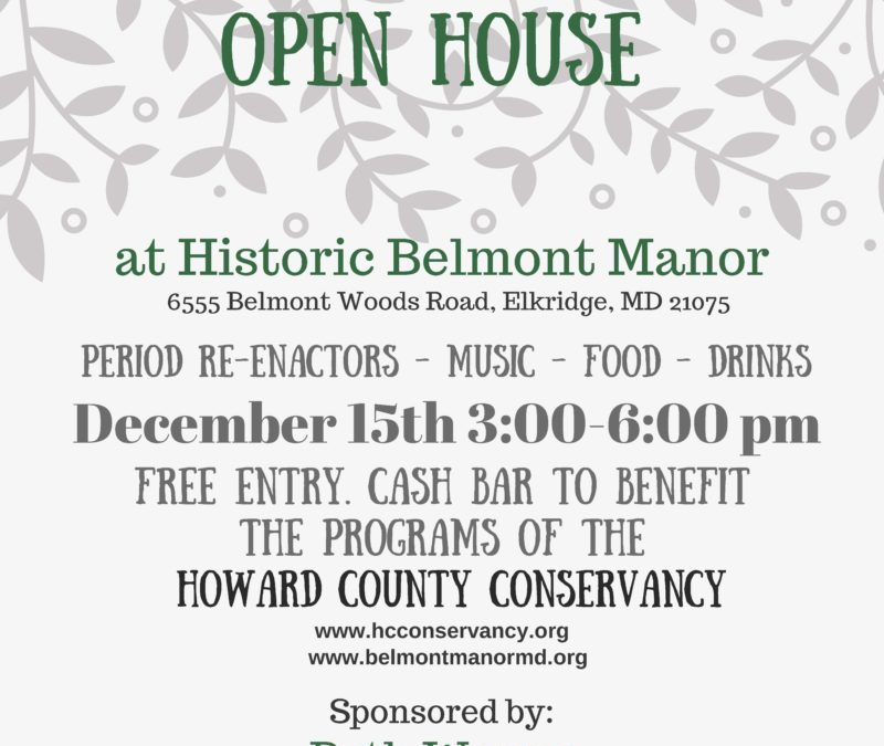 Belmont Manor Holiday Open House