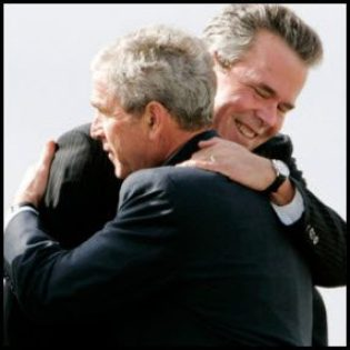 george-bush-jeb-bush-hug-Photograph-by-Corbis
