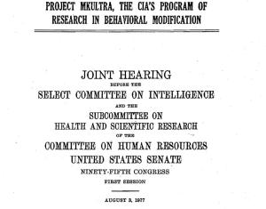 MK ULTRA hearing