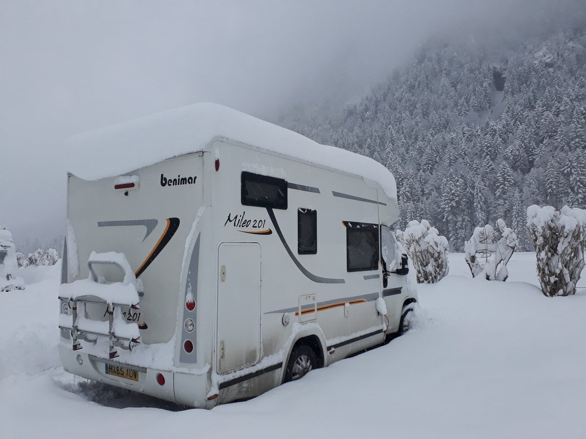Winter camping in Austria in the fully winterised Benimar Mileo 201 motorhome.