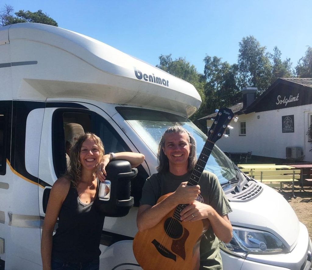 How and Bev on the Brass Neck! tour in Sweden in their Benimar Mileo 201 motorhome