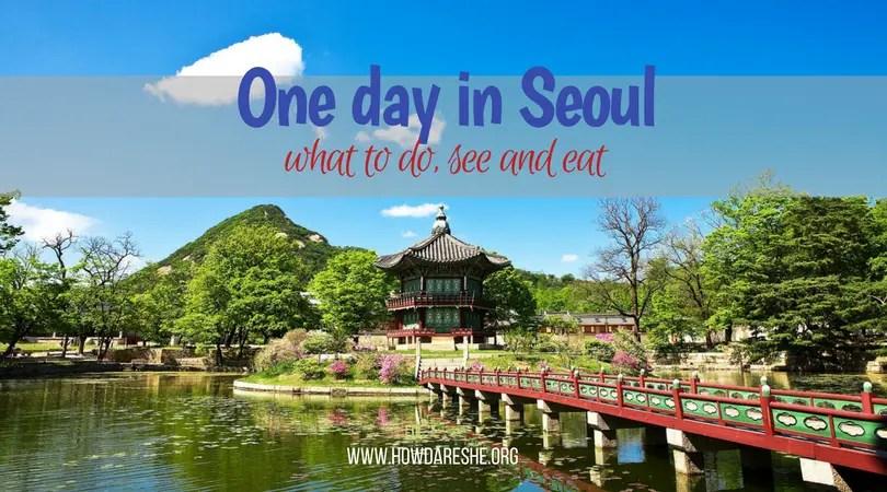 one day in seoul