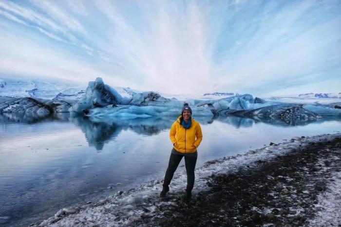 Jökulsárlón Glacier Lagoon winter in Iceland