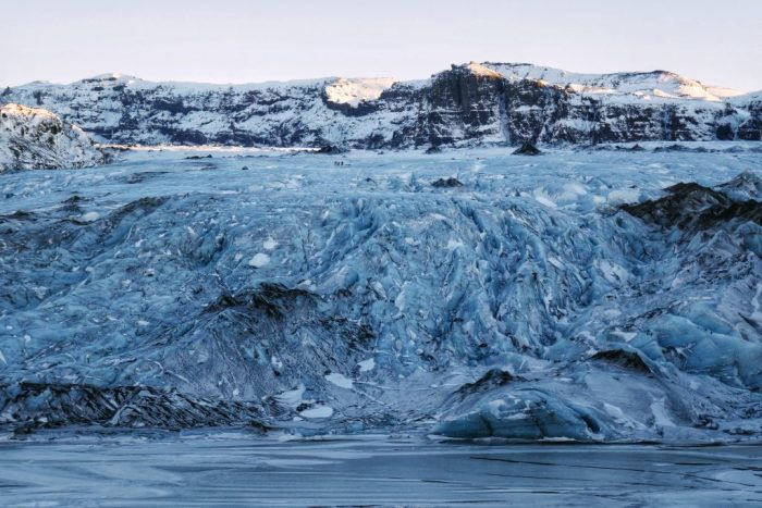 Sólheimajökull Glacier in the winter, glacier hiking