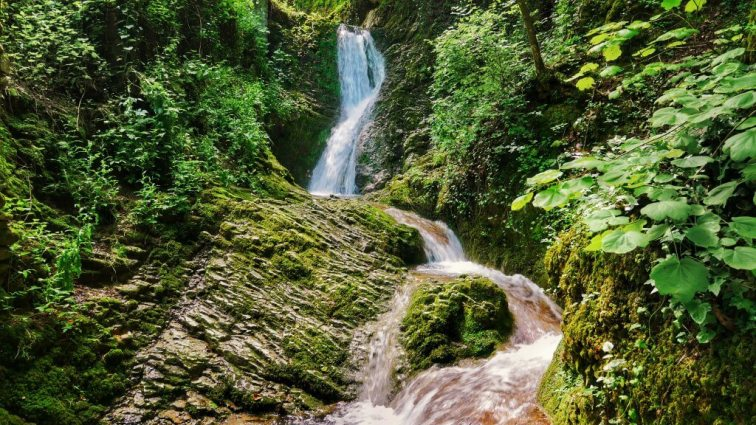 Hidden waterfall in San Marino