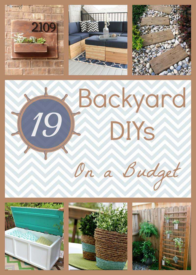 19 Backyard DIY Spruce-Ups on a Budget | How Does She on Diy Back Patio Ideas id=35693