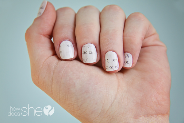 Nail art with Words