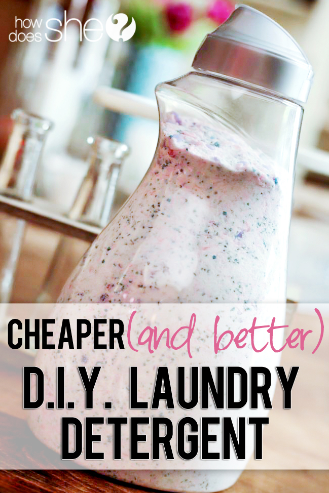 DIY Laundry Detergent via How Does She