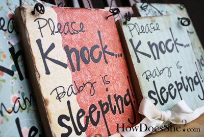 please knock baby is sleeping