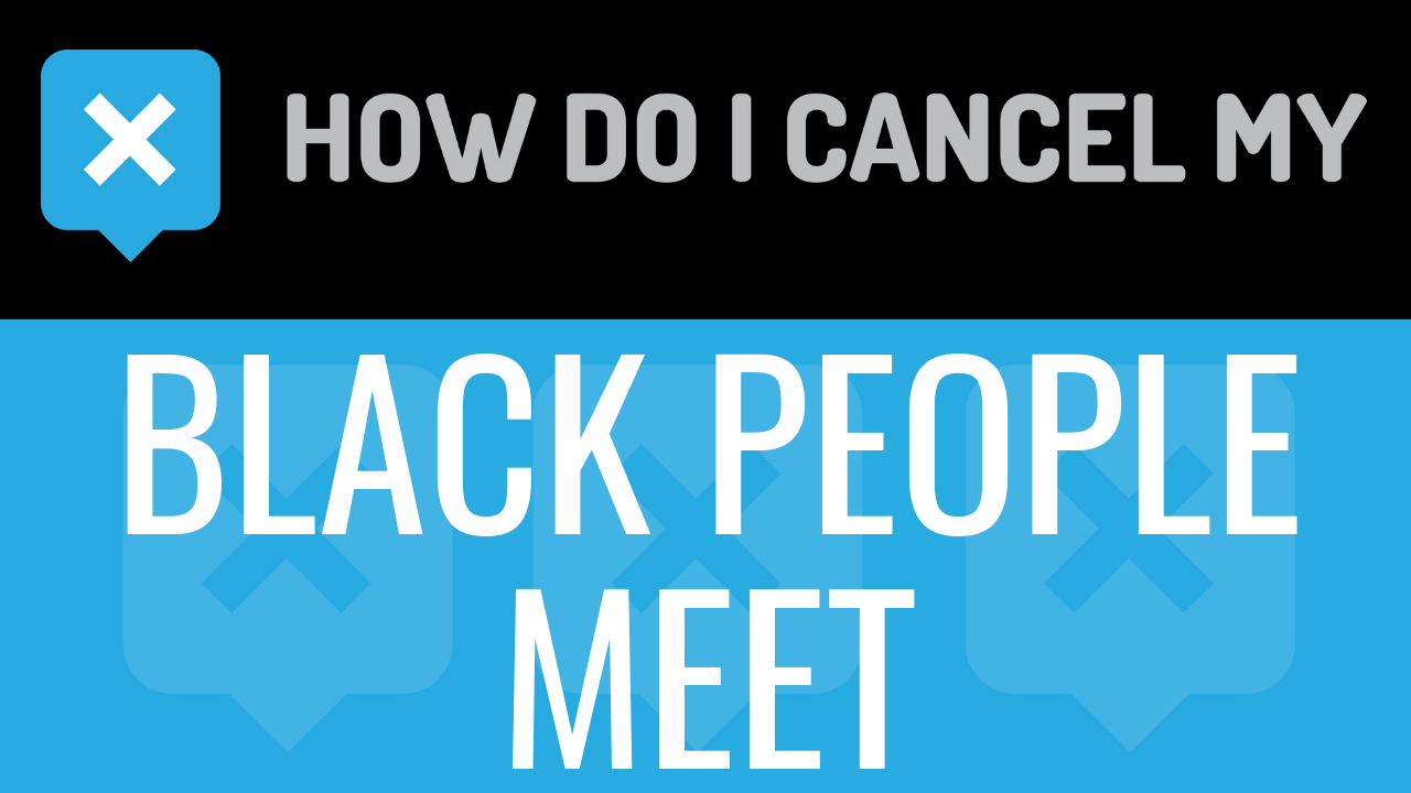 Black people meet cancel