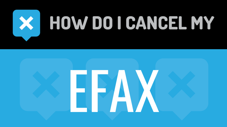 How do I cancel my eFax