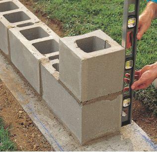 How to Lay Concrete Block8