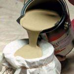 Strain the paint through cheese cloth