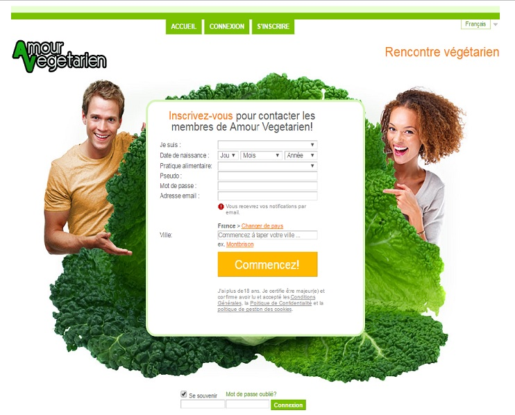 Site rencontre vegetarien