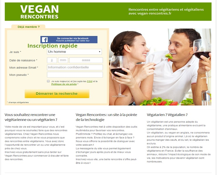 Sites de rencontre vegan