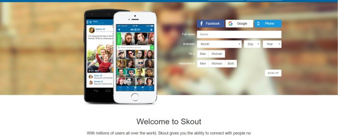 application rencontre Skout